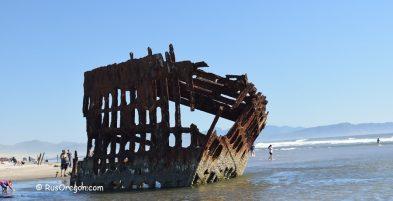 Обломки кораблекрушения Питер Айрдейл @ Peter Iredale Shipwreck